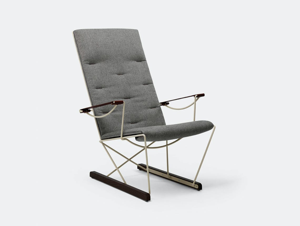 Massproductions Spark Lounge Chair Ivory Frame Chris Martin