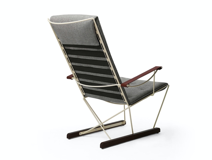 Massproductions Spark Lounge Chair Ivory Frame Back Chris Martin