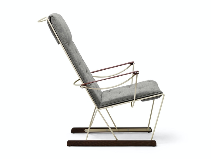 Massproductions Spark Lounge Chair Ivory Frame Side Chris Martin