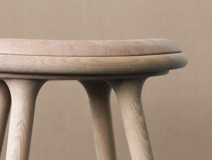 Mater Mater High Stool Seat Detail Oak Space Copenhagen