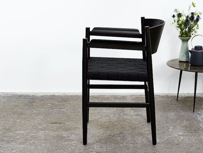 Mater Nestor Chair Black Beech Linen 2 Tom Stepp