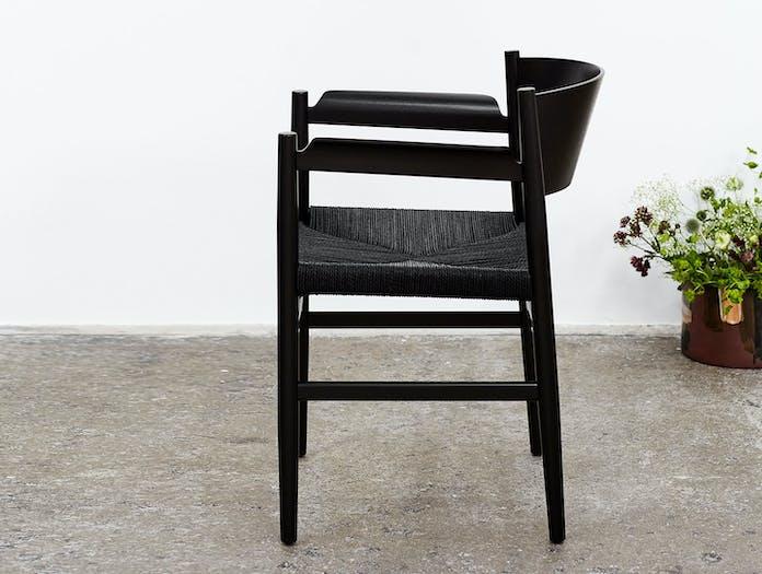 Mater Nestor Chair Black Beech Papercord 2 Tom Stepp