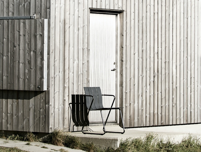 Mater Ocean Outdoor Chair Black Nanna Ditzel