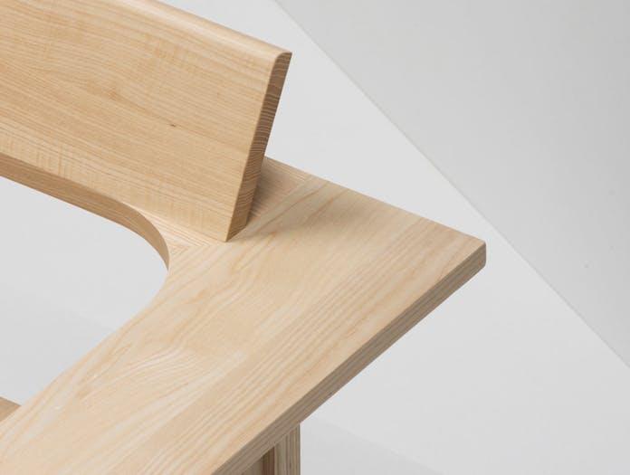 Mattiazzi Clerici 2 Seater Lounge Chair Natural Ash Detail Konstantin Grcic