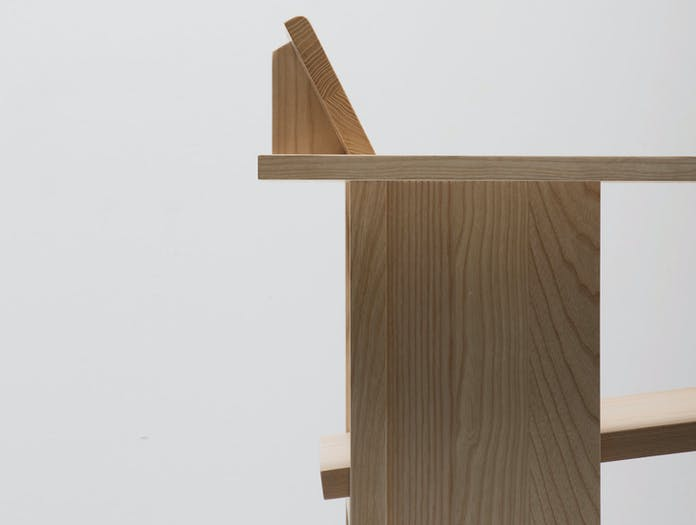 Mattiazzi Clerici 2 Seater Lounge Chair Natural Ash End Detail Konstantin Grcic