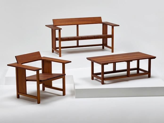 Mattiazzi Clerici 2 Seater Lounge Chair Outdoor Iroko Konstantin Grcic