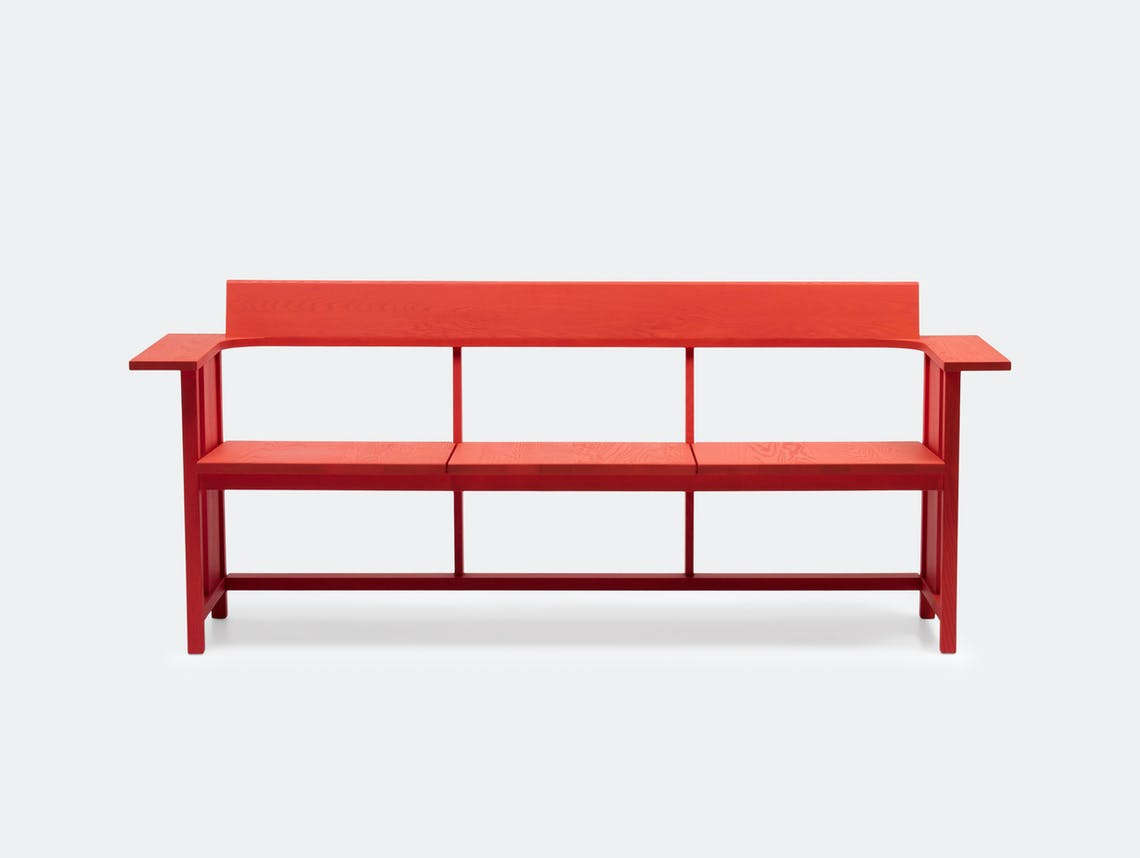 Mattiazzi Clerici Bench Red Ash Konstantin Grcic