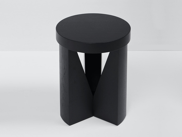 Mattiazzi Cugino Stool Table Oak Black Konstantin Grcic