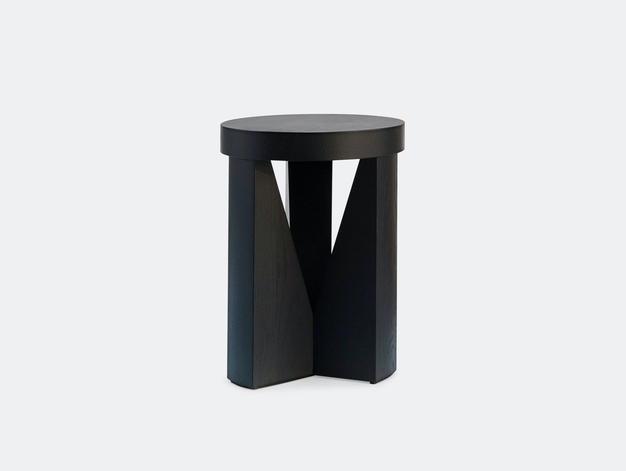 Mattiazzi Cugino Stool Table Oak Black Konstantin Grcic