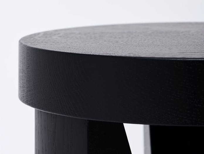 Mattiazzi Cugino Stool Table Oak Black Detail Konstantin Grcic
