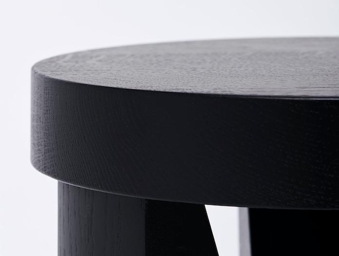 Mattiazzi Cugino Stool Table Oak Black Detail Konstantin Grcic