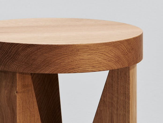 Mattiazzi Cugino Stool Table Oak Detail Konstantin Grcic