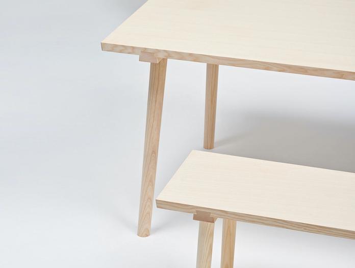 Mattiazzi Facile Bench And Table Ash Detail Lambl Homburger Meyer