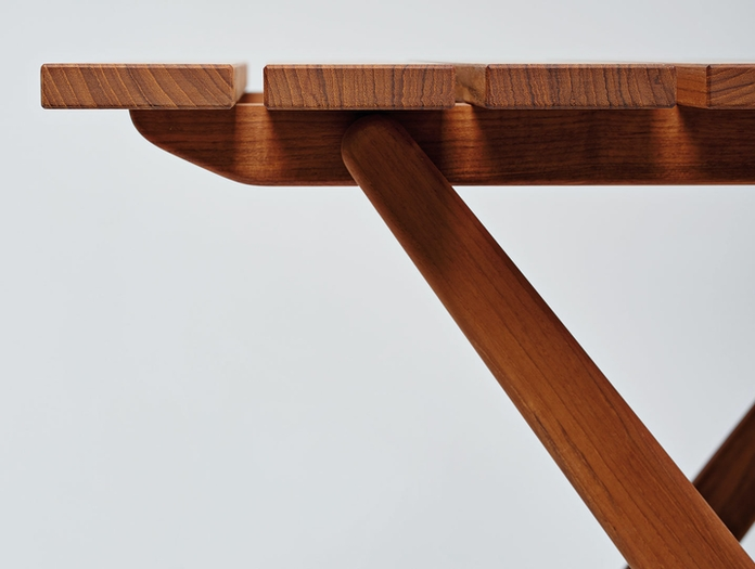 Mattiazzi Fionda Outdoor Table Side Detail Jasper Morrison