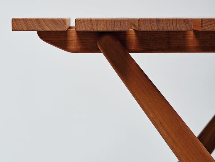 Mattiazzi Fionda Outdoor Table Side Detail Jasper Morrison