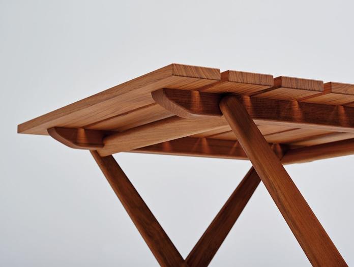 Mattiazzi Fionda Outdoor Table Teak Detail Jasper Morrison