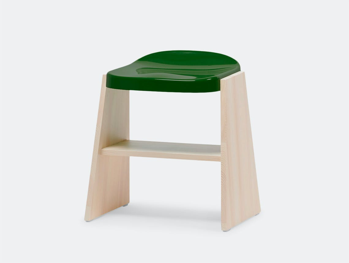 Mattiazzi Fronda Stool Pine Green Seat Sam Hecht Kim Colin