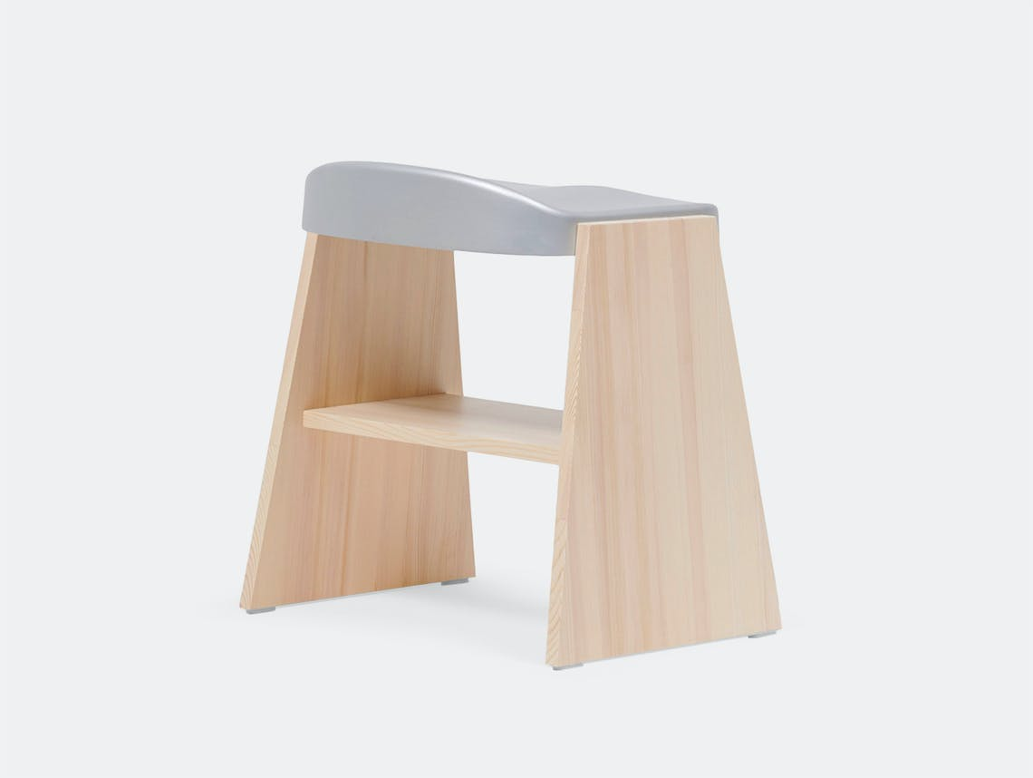 Mattiazzi Fronda Stool Pine Silver Seat Sam Hecht Kim Colin