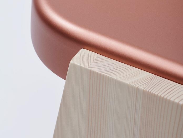 Mattiazzi Fronda Detail Pine Copper Seat Sam Hecht Kim Colin