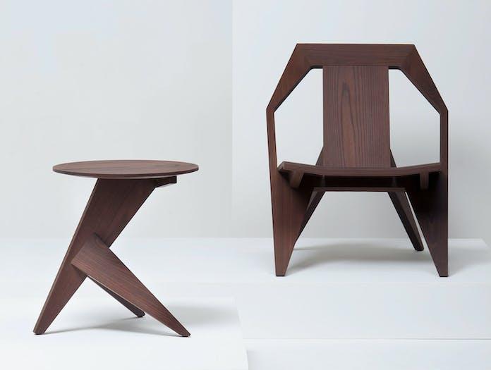 Mattiazzi Medici Lounge Chair Table Oiled Thermo Ash Konstantin Grcic
