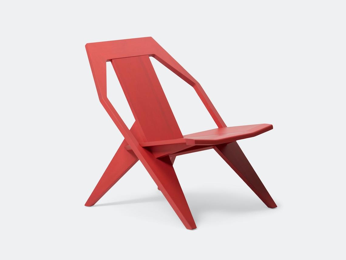 Mattiazzi Medici Lounge Chair Red Ash Konstantin Grcic