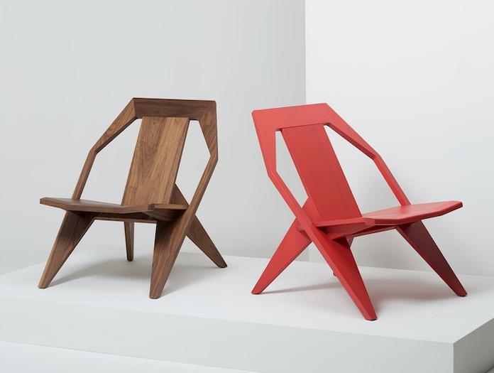 Mattiazzi Medici Lounge Chairs Walnut Red Ash Konstantin Grcic