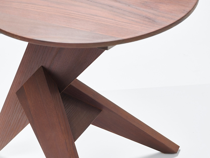 Mattiazzi Medici Side Table Oiled Thermo Ash Detail Konstantin Grcic