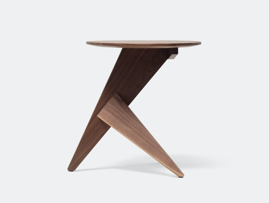 Mattiazzi Medici Side Table Natural Walnut Konstantin Grcic