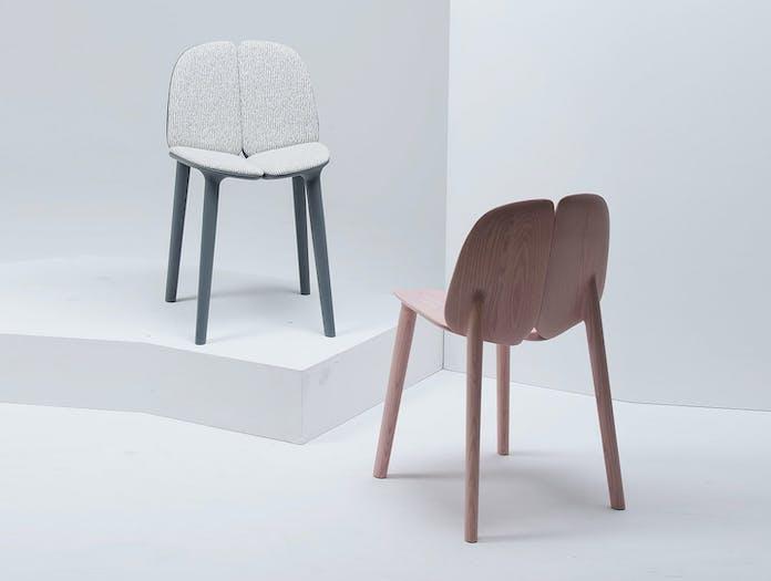 Mattiazzi Osso Chairs Pink Upholstered Ronan Erwan Bouroullec