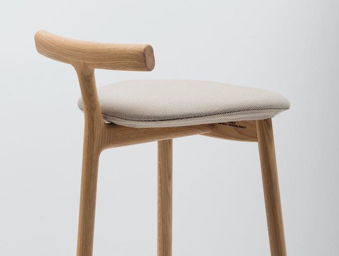 Mattiazzi Radice Stool Oak Upholstered Detail Sam Hecht Kim Colin