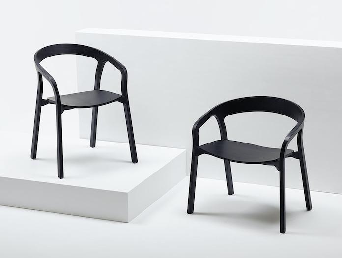 Mattiazzi She Said Chair Lounge Chair Black Ash Studio Nitzan Cohen