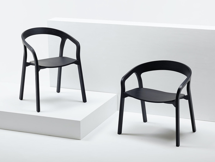Mattiazzi She Said Chair Lounge Chair Black Ash Studio Nitzan Cohen