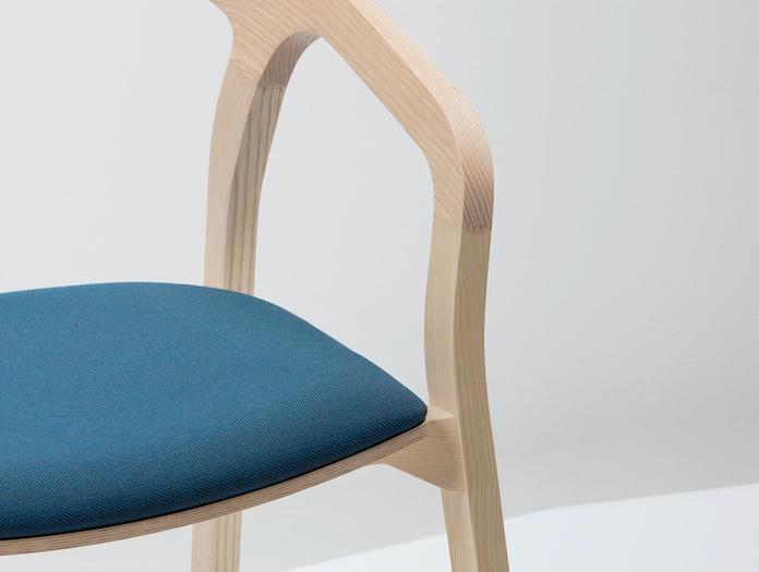 Mattiazzi She Said Chair Ash Arm Detail Studio Nitzan Cohen