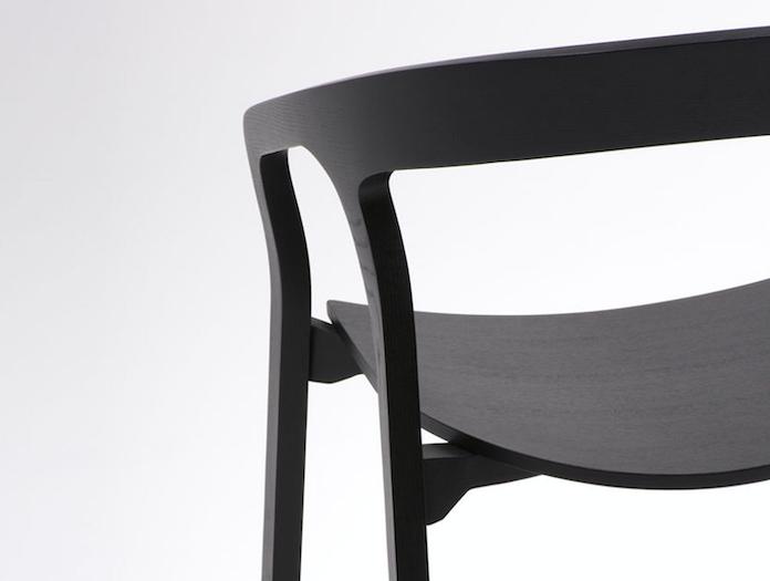 Mattiazzi She Said Chair Black Ash Detail Studio Nitzan Cohen