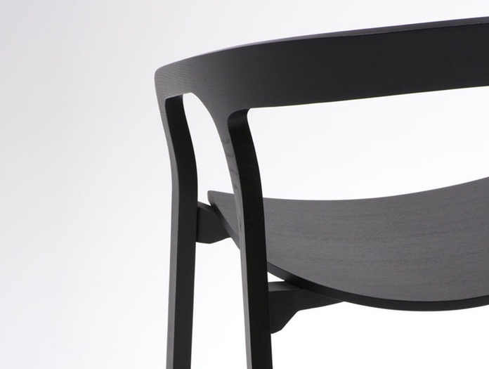 Mattiazzi She Said Chair Black Ash Detail Studio Nitzan Cohen