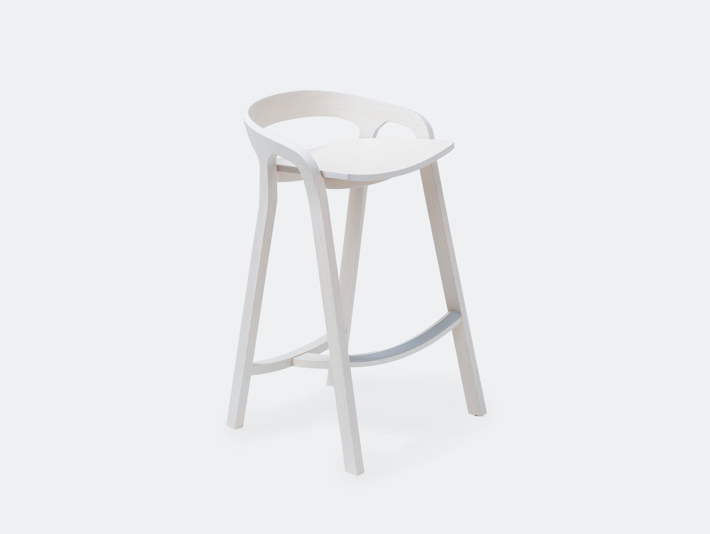 Mattiazzi She Said Counter Stool White Ash Studio Nitzan Cohen