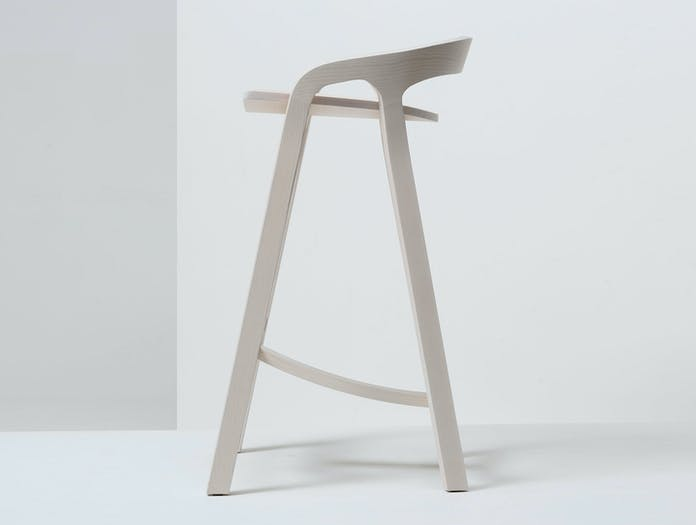 Mattiazzi She Said Stool White Ash Side Studio Nitzan Cohen
