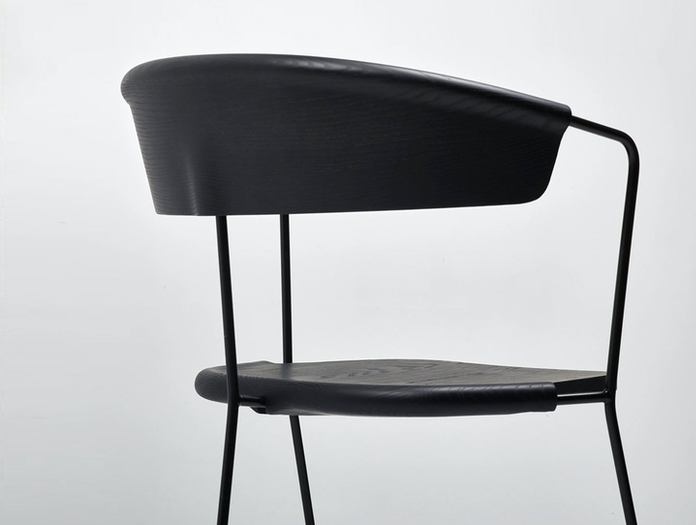 Mattiazzi Uncino C Chair Black Back Detail Ronan Erwan Bouroullec