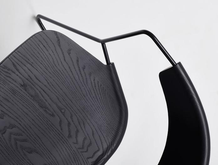 Mattiazzi Uncino C Chair Black Seat Detail Ronan Erwan Bouroullec