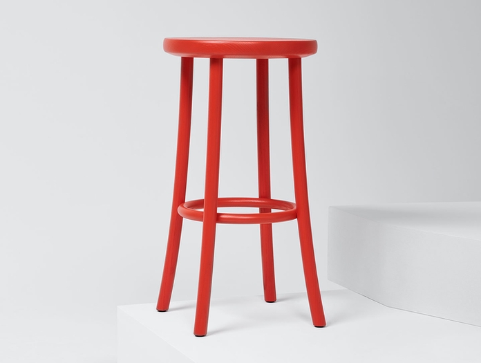 Mattiazzi Zampa High Stool Red Jasper Morrison