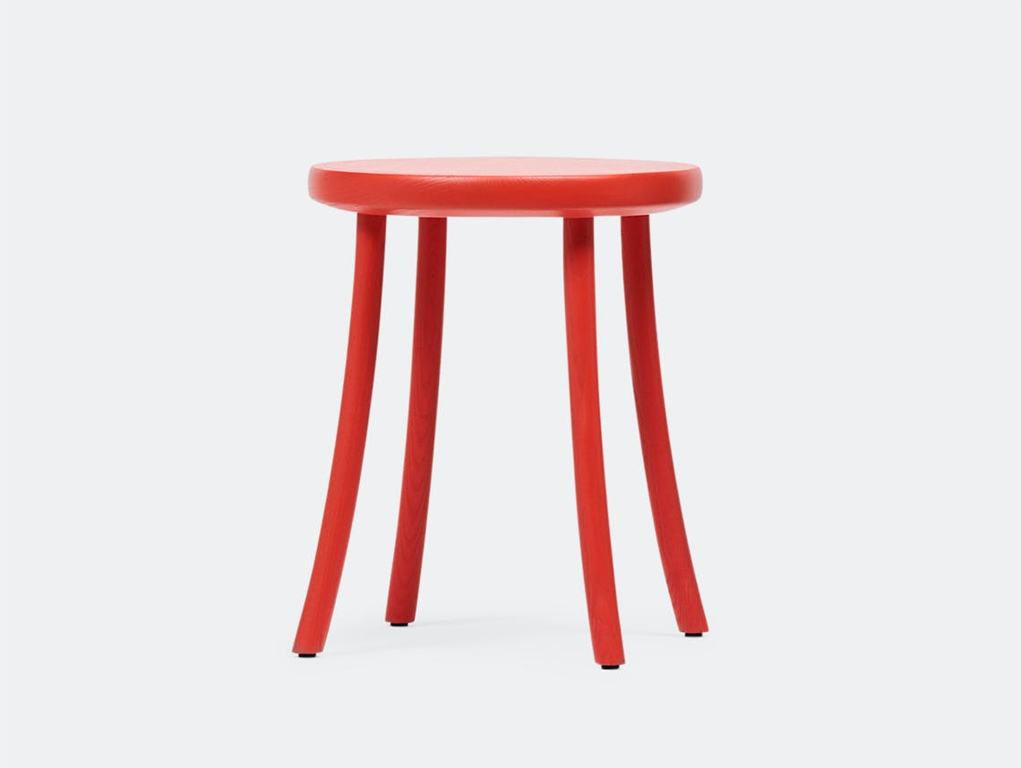 Mattiazzi Zampa Low Stool Red Jasper Morrison