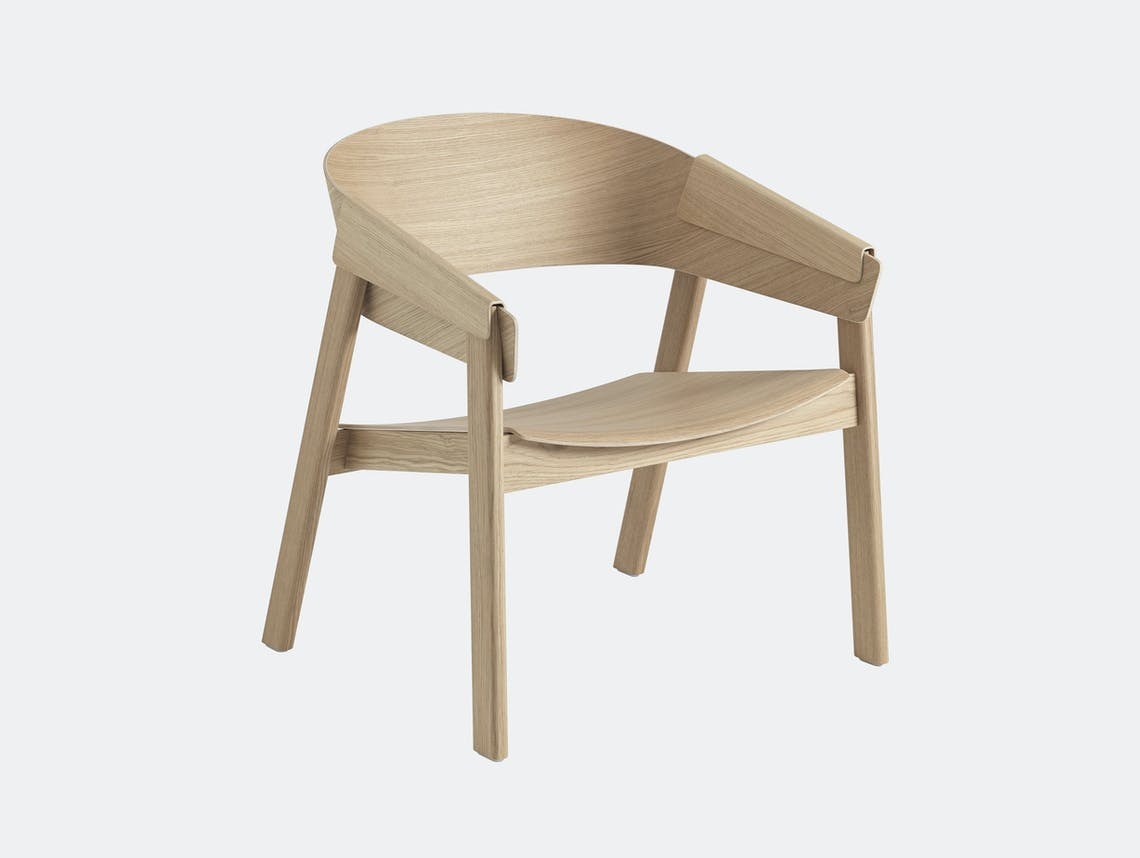 Muuto Cover Lounge Chair Wooden Seat Oak Thomas Bentzen