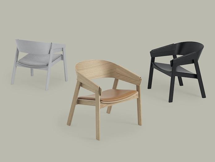 Muuto Cover Lounge Chairs Upholstered Thomas Bentzen