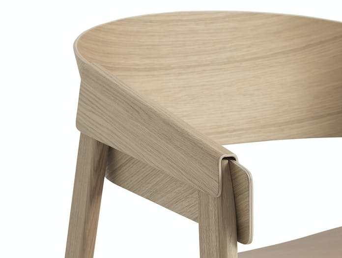Muuto Cover Lounge Chair Oak Detail