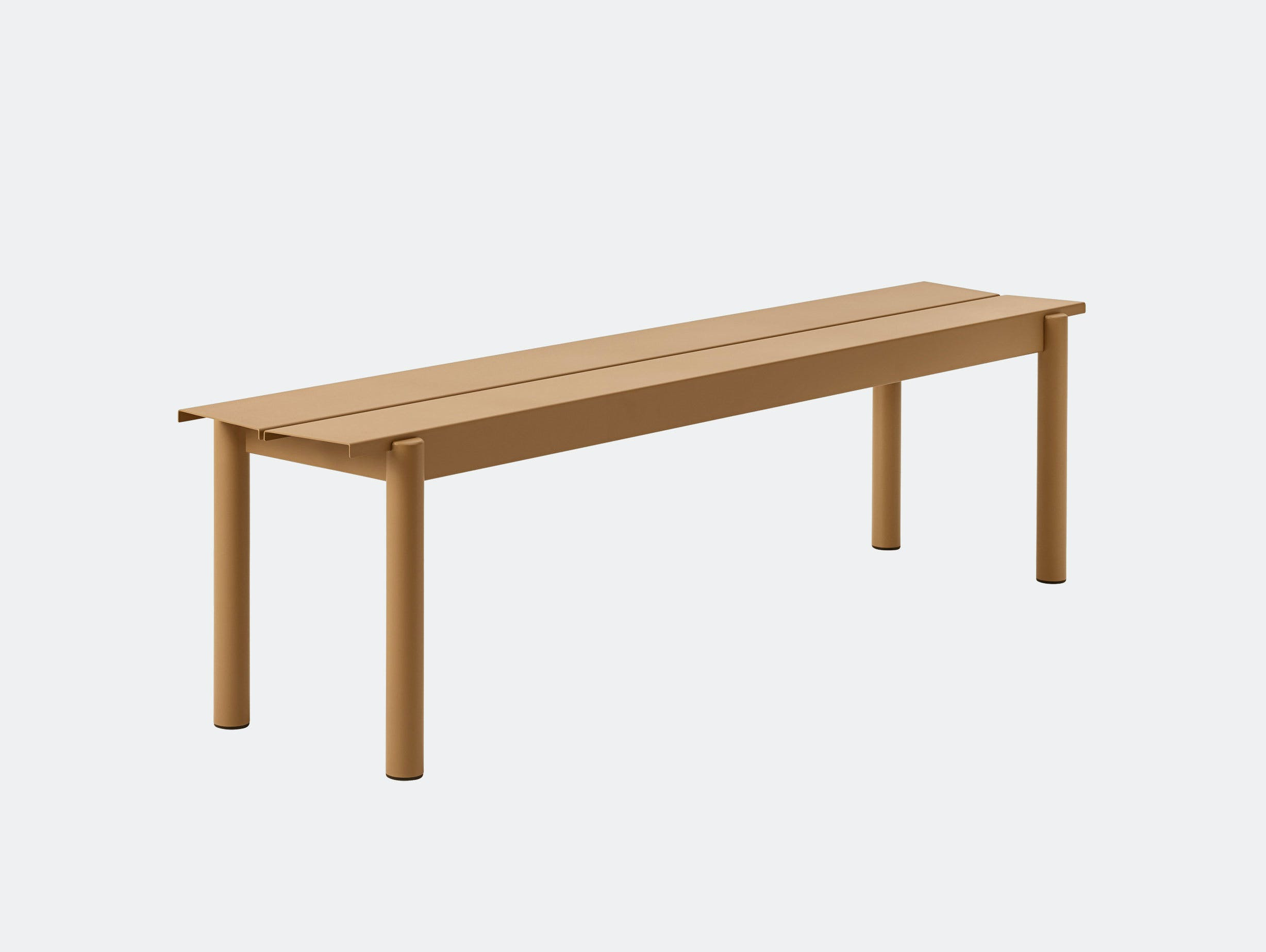 Muuto Linear Steel Outdoor Bench L 170Cm Burnt Orange Thomas Bentzen