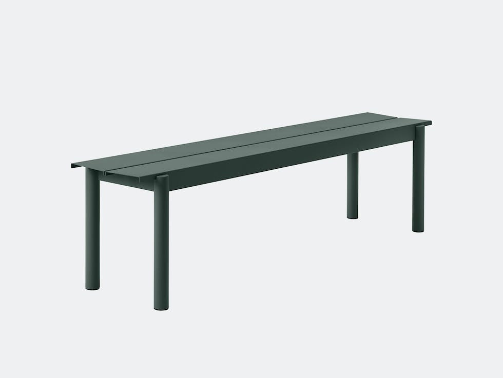 Linear Steel Outdoor Bench image