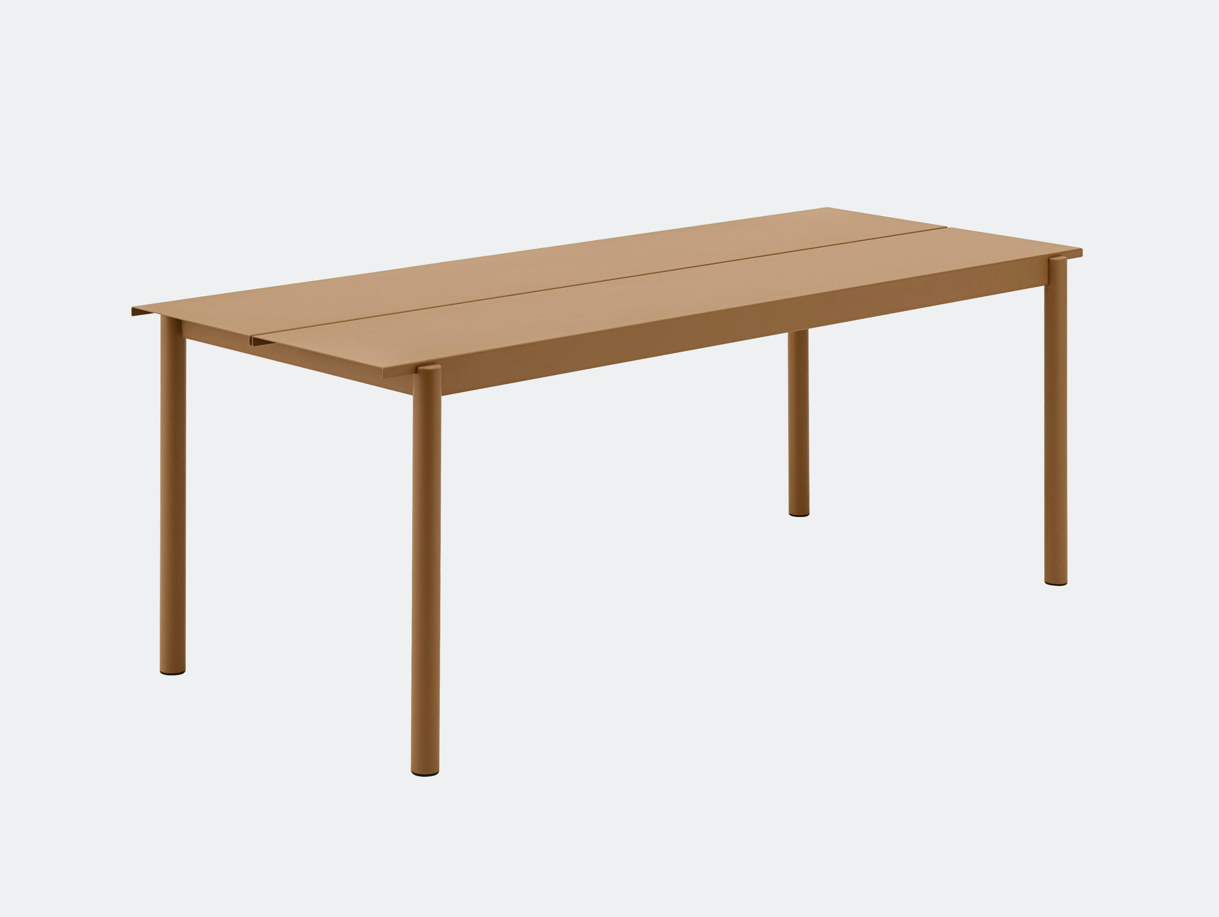 Muuto Linear Steel Outdoor Table L 200Cm Burnt Orange Thomas Bentzen