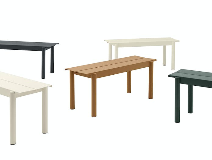 Muuto Linear Steel Outdoor Bench Group