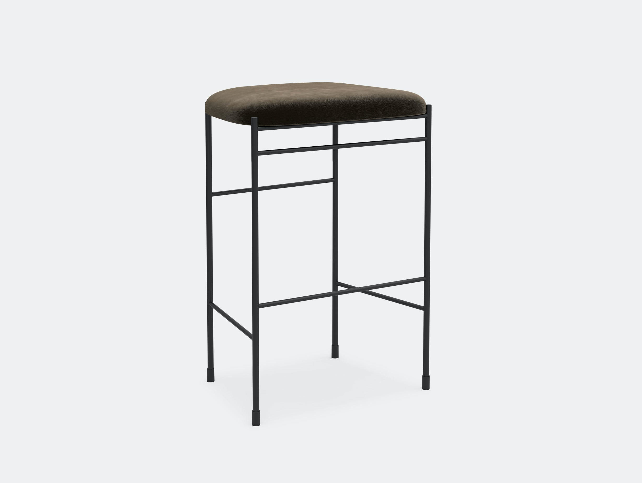 New Works Copenhagen Covent Counter Stool Brown Nubuck Arde