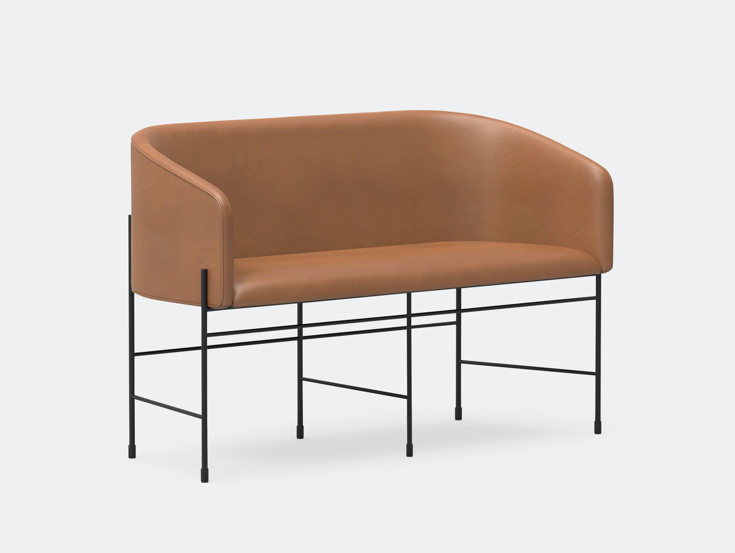 New Works Copenhagen Covent Love Seat Leather Arde